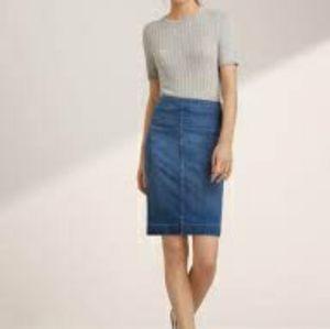 Wilfred Free 'Karolina' High Waisted Denim Skirt